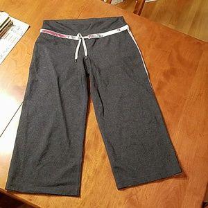 Lululemon Gray wide leg capris drawstring M